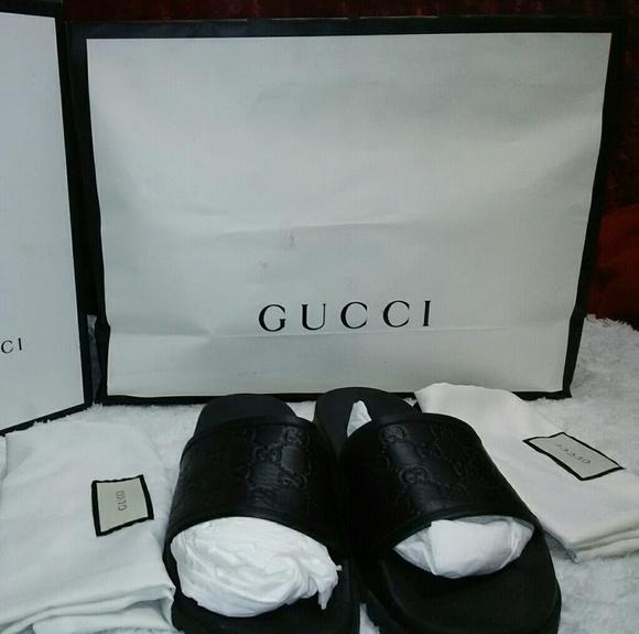 5a302a2eb Gucci Shoes | Black Flip Flops | Poshmark